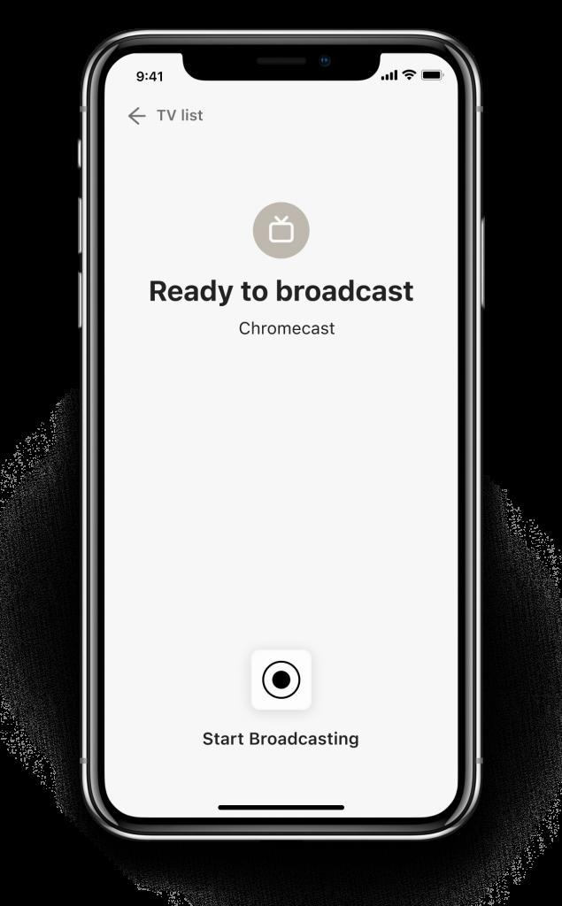 step 2 broadcast chromecast