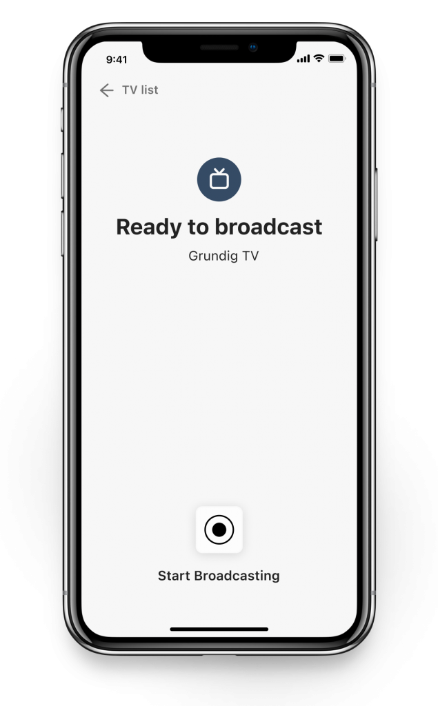 stream to grundig tv