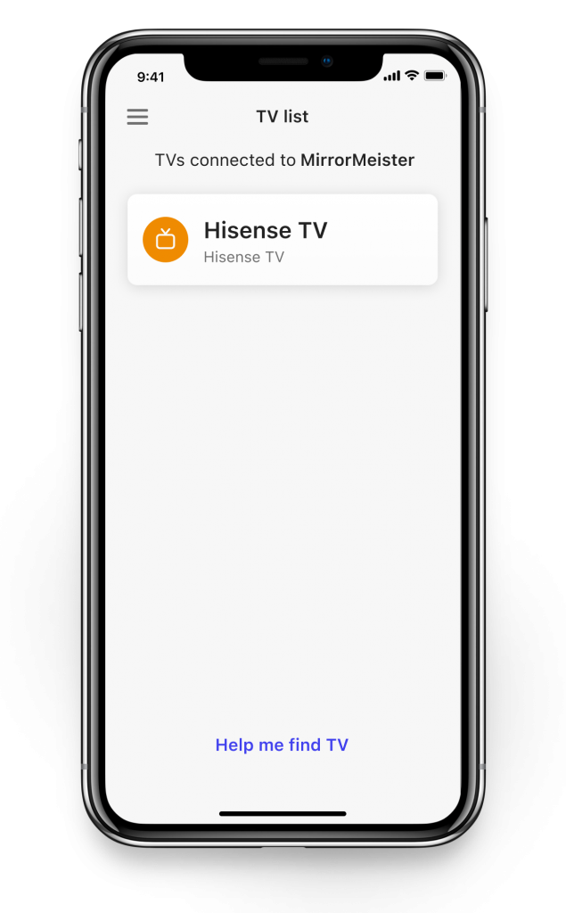 connect to Hisense tv
