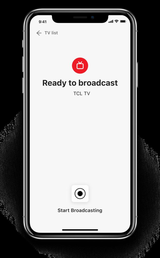 iPhone broadcast